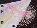【振袖用・訪問着用・小紋用】【洗える】ちりめん刺繍半衿「桜吹雪」