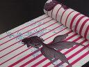 ショッピング金魚 【撫松庵】【反物】浴衣(セオα)「金魚に縞(ローズ)」【10P03Sep16】