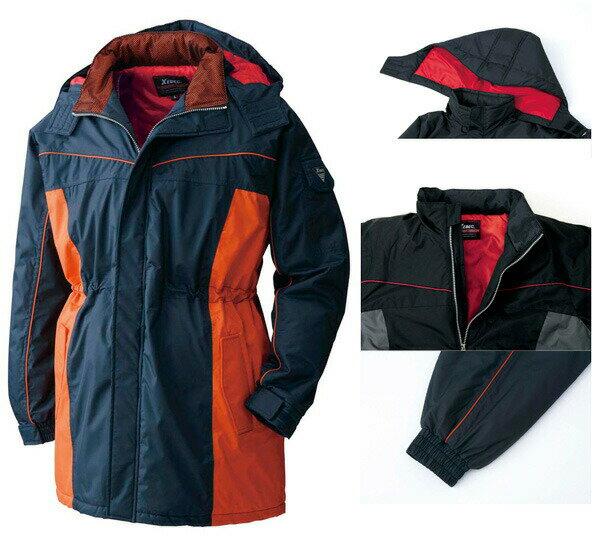 ジーベック 601 防水防寒コート フード付 (ポリ100%) 防寒服 防寒着 3L