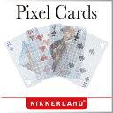( あす楽 ) トランプ ピクセルカード Pixel Cards 【 KIKKERLAND/キッカーランド 】 カード プラスチック かわいい 透ける 透明 お...