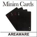 ( あす楽 ) シンプル モノクロ ミニム トランプ プレイングカード 【 AREAWARE 】Minim Playing Cards トランプ おもしろ デザ...