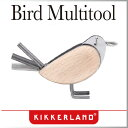 ( あす楽 ) トリ 鳥 バードマルチツール 【 KIKKERLAND / キッカーランド 】Bird Multitool 六角レンチ サイクリング オブジェ 木製 バード マルチツール コンパクト 小鳥 / WakuWaku
