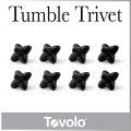 ( あす楽 ) 鍋敷き まきびし タンブルトリベット BK 【 Tovolo / トロボ 】Silicone Tumble Trive...