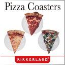 ( あす楽 ) ピザ コースター 【KIKKERLAND/キッカー ランド】 Pizza Coasters おもしろ雑貨 キッチン雑貨 ホームパーティ ピザ コースター 紙 海外 デザイン / WakuWaku