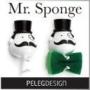 ( あす楽 ) Mr スポンジ スポンジホルダー 紳士 ジェントルマン スポンジ 【 Peleg Design / ペレグデザイン 】Mr. Sponge 蝶ネクタ…