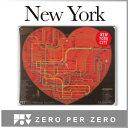 おしゃれインテリア雑貨◎プチギフト お土産に、インテリアに City Railway System /シティ・レイルウェイシステム マウスパッド マウスパット (ニューヨーク New York)【ZERO PER ZERO/ゼロパーゼロ】文房具、デザイン雑貨のWakuWaku 代官山
