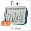 ( あす楽 ) カレンダー MOTO シンプル デザイナー デジタルカレンダークロック date かっこいい デザイン スタイリッシュ プレゼント 使いやすい 卓上 デスク 机 表示 万年 コンパクト 壁掛け 便利 自動 時計 付き おしゃれ ★ WakuWaku