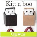 ( あす楽 ) 猫 ネコ フック キティ ウォール フック 【 QUALY / クオーリー 】 Kitt a boo Wall Hook インテリア デザイン ...