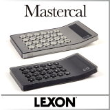 電卓 カリキュレーター おしゃれ MASTERCAL 【 LEXON / レクソン 】シルバー ブラック シンプル デザイン インテリア 10桁 アクリル 透明 カバー 使いやすい