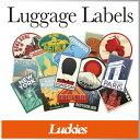 ( あす楽 ) ステッカー シール トラベル 旅行 ラゲッジラベル【 Luckies / ラッキーズ 】 Luggage Labels スーツケース バック かばん シール 国 デザイン おしゃれ かわいい 海外 / WakuWaku