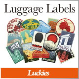 �� ������ �� ���ƥå��� ������ �ȥ�٥� ι�� �饲�å���٥�� Luckies / ��å����� �� Luggage Labels �����ĥ����� �Хå� ���Ф� ������ �� �ǥ����� ������� ���襤�� ���� / WakuWaku