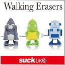 ( あす楽 ) 消しゴム ロボット 恐竜 ワインドアップイレーサー 【 Suck UK / サックユーケー 】 WALKING ERASERS おもしろ 文具 ...