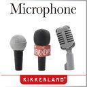 ( あす楽 ) 消しゴム マイク マイクロフォンイレイサー 【KIKKERLAND/キッカー ランド】Microphone Erasers 鉛筆キャップ おもしろ文具 海外 変わった イレイサー イレイザー おもしろ雑貨 プレゼント / WakuWaku