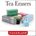 ( あす楽 ) 消しゴム 紅茶 ティー 5個セット パッケージ 香り 【KIKKERLAND/キッカー ランド】Tea Scented Erasers おもしろ文具 海外 変わった イレイサー イレイザー かわいい 文房具 プレゼント / WakuWaku