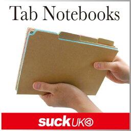 ( あす楽 ) タブノート 4pcsセット ノート フォルダー 【 Suck UK / サックユーケー 】Tab Notebooks おもしろ文具 海外 プレゼント おもしろ 雑貨 おしゃれ ノート セット タブ 4冊セット 勉強 趣味 使い分け デザイン タブ 管理 / WakuWaku