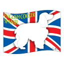 イングリッシュコッカースパニエル グッズ ステッカーはた《Mサイズ(2枚セット)》 ステッカー シール デカール シルエット 車 カー シール デカール 犬 いぬ イヌ シルエット 影 リア アクセサリー ステッカー 車 バイク スーツケース