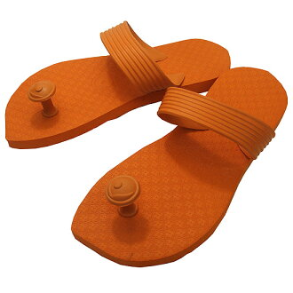 Gaze riveted! Traditions of India & Australia design flip flop スワミーズ ( Swamisz ) unisex Orange