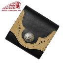 Indian インディアン 財布ライダース ショート ウォレット ブラックRIDERS SHORT WALLET BLACK[革小物・3つ折り財布・バイカーズウォレット] 【RCP】