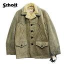 schott(ショット) スエードランチコート 裏ボア メンズ 【USAデットストック】スウェード アメリカ製 レザーコート