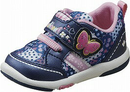 【OSHKOSH】オシュコシュB96ネイビー2E【子供靴】【ベビー靴】【お花畑】【洗えるインソール】