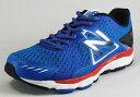 【new balance】M670-BR5ブルー/レッド2E【紳士靴】【ABZORB】【ロードランニング】【ACTEVA-LITE】【MedialPost】【Ndurance】