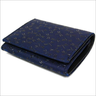 Mark chuan ya inden two folded wallet (two fold wallet) wallet 2204 Dragonfly (Navy blue x black) free shipping