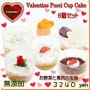 犬用のバレンタインデー カップケーキ6個セット 無添加 お得...
