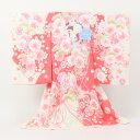 【レンタルお宮参り着物】pom ponette ポンポネット 絵羽柄 祝着 1歳 女の子 《クリームに桜と鶴》【fy16REN07】