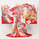 With omiyamairi kimono girl &quot;pure silk fabrics colorfully-dyed pattern, cloth of white background made in Japan playing handball pattern child kimono omiyamairi of the arrival at expand [free shipping ] tomorrow comfort &quot; celebration pure silk fabrics omiyamairi   kimono girl woman