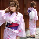 Three points of [free shipping] yukata set fancy weaving yukata sets to &quot;the pink place flow cherry tree include the postage including 2012 peony lease&quot; yukata Zone clogs new work yukata  yukata yukata yukata set woman yukata set postage