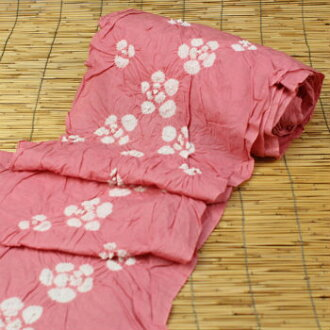 Arimatsu narumi shibori pinch yukata kimono pink to the Camellia «first-class dressmaker skill domestic sewing and tailoring & band giveaway» yukata yukata traditional craft tannmono