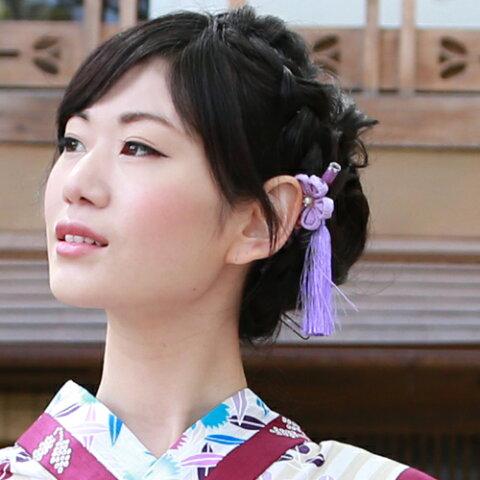 髪飾り かんざし 日本製「桜ちりめんつまみかんざし」【あす楽】振袖 夏祭り 花火 盆踊り お祭り
