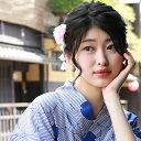 「なでしこ」日本製 浴衣 髪飾り クリップ「ぶら下がり付き花...