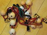 【Julius-K9】ユリウスケーナイン  ball 天然ゴムボール 紐付き 愛犬のおもちゃ サイズ:サイズ:50mm 60mm 70mm ドッグ 犬 Toy トイ おもちゃ
