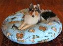 【直径130cm・XL】ラウンドベッド専用カバー(XL)ラリカンオリジナル【大型犬 フワフワ 替えカバー 中型犬 日本製 可愛い トロピカルパウ】