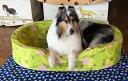 【XLサイズ】中身とカバーのセットオーソペディックカドラー日本製のベッド アロハ柄 大型犬 老犬