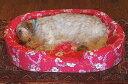 【XLサイズのカドラー】中身とカバーのセット大型犬用、ラリカンオリジナルのベッド【レトリバー ナミナミウレタン アロハ ハワイ パウ柄 快眠 可愛い 日本製】