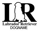 ラブラドールレトリバーのカッティングシールイニシャルタイプ犬種別ステッカー車 シール ペット 犬 シルエット カーステッカー