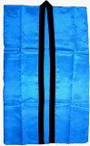 没有绸缎长袖子happi「浓水色」[サテンロングハッピ「青(濃水色)」【期間限定特価  L  下げ激安中】]