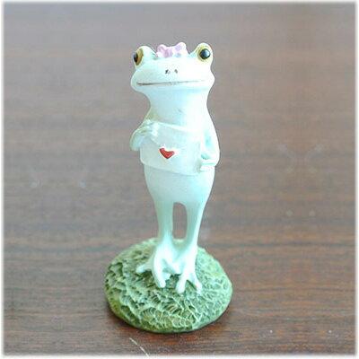 (ラブレターを貰ったカエルの女の子)コポーやカエル グッズ 雑貨(バリ雑貨 アジアン雑貨)風水にもおすすめのカエルの置物(かえる 蛙 フロッグ)縁起物 置物 カエルのフィギュアで無事帰る(アジアン アジア バリ)Copeau(コポタロウ コポミ)かわいい(可愛い)マスコット