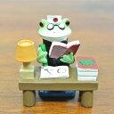 (がり勉 カエル)カエル 置物 コポーやカエル グッズ 雑貨(バリ雑貨 アジアン雑貨)風水にもおすすめのカエルの置物(かえる 蛙 フロッグ)縁起物 置物 カエルのフィギュアで無事帰る(アジアン アジア バリ)Copeau(コポタロウ コポミ)かわいい(可愛い)