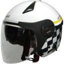 Wシールドジェットヘルメット ホワイト/グレー RN-999W お取り寄せ商品