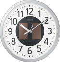 送料無料 ハト・スタンダード掛け時計 電波時計 エコライフM815 4MY815-019 リズム時計工業