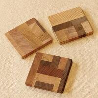 いろんな木の色で作ったオシャレな木製のコースター イロイロ