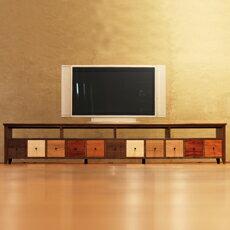 TVボード 幅240cm ウォールナット材 4Kテレビ対応 ワ