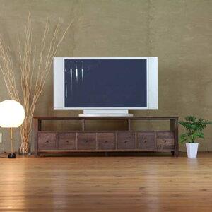 TVボード 幅156cm ウォールナット材 小引出 テレビ台