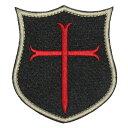 ベルクロワッペン アメリカ海軍 ネイビーシールズ 盾形 クロス 黒 縦8.5cm 横7.5cm
