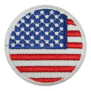 アイロンワッペン 国旗円 アメリカ 星条旗 縦4.5cm 横4.5cm