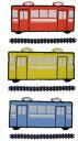 """""""ワッペン屋さんラボ オリジナルワッペン""""  電車Mと線路 ワッペン(アイロン接着タイプ)"""