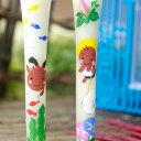 特別柄  夏休み 絵ろうそく3号(手描き)2本入 絵ローソク 和ろうそく 仏具